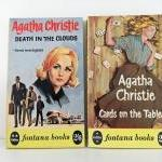 Vintage Agatha Christie books - Death in the Clouds and Cards on the Table